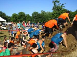 Mud hill climb
